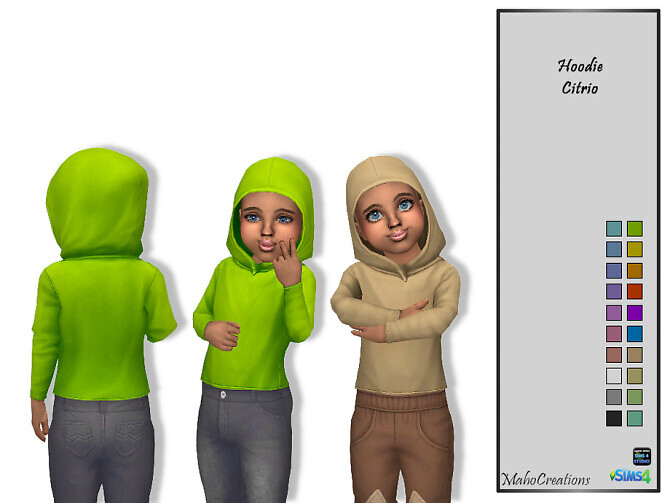 Sims 4 Hoodie Citrio by MahoCreations at TSR