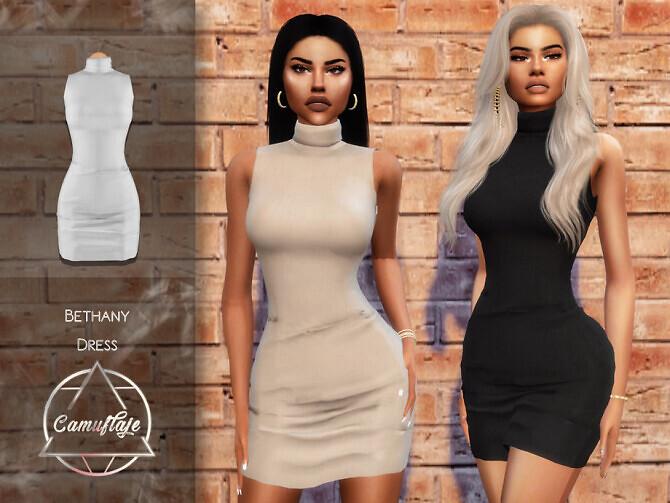 Sims 4 Bethany Dress by Camuflaje at TSR