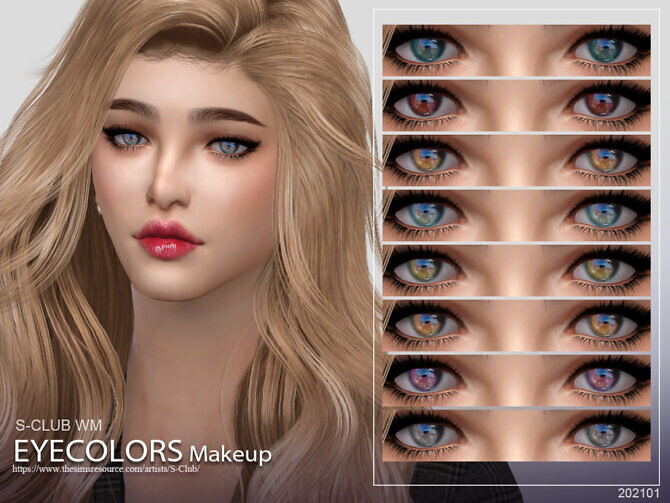 Sims 4 Eyecolors 202101 by S Club WM at TSR
