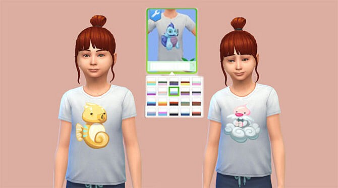 Sims 4 White children Voidcritters T shirts by Cherrysama at Mod The Sims