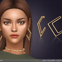 Gaia Square Hoop Earrings by feyona