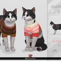 Winter Sweater For Cats 01 By Remaron