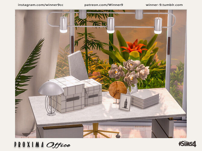 Sims 4 Proxima Office Decorations by Winner9 at TSR