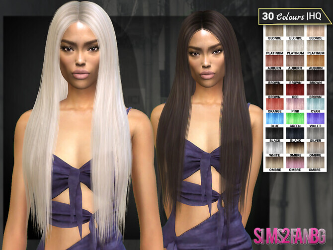 Sims 4 Ariana Hairstyle 7 by sims2fanbg at TSR