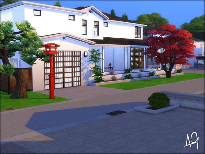 Sims 4 House of Zen by ALGbuilds at TSR