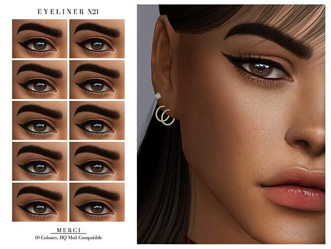Sims 4 Eyeliner N21 by Merci at TSR
