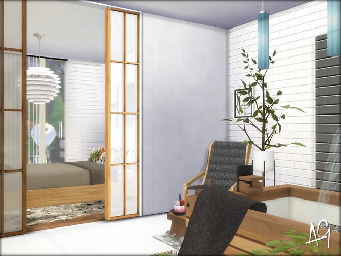 Sims 4 Zen Master Bedroom by ALGbuilds at TSR