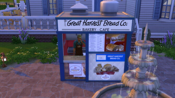 Sims 4 Great Harvest Bread Co Stand by ArLi1211 at Mod The Sims