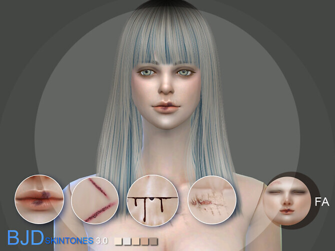 Sims 4 BJD3.0 Doll skintone A for females by S Club WMLL at TSR