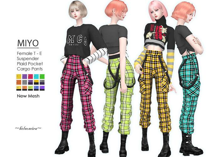 MIYO Punk Plaid Cargo Pants by Helsoseira