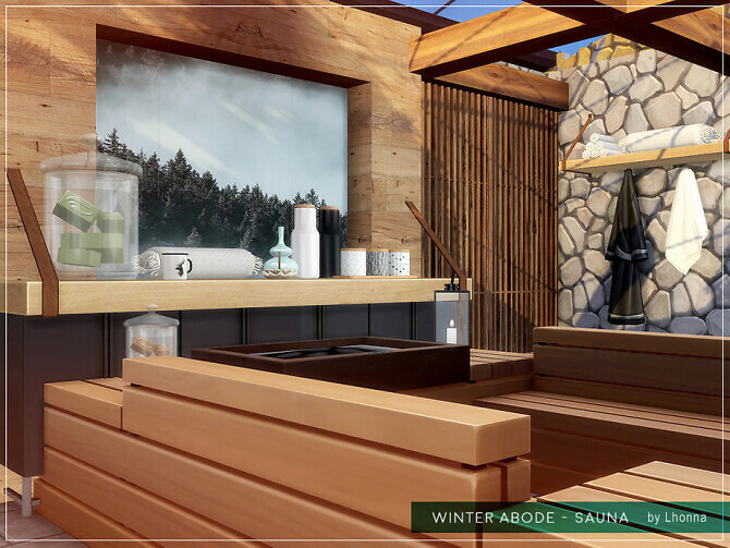 Sims 4 Winter Abode Sauna by Lhonna at TSR