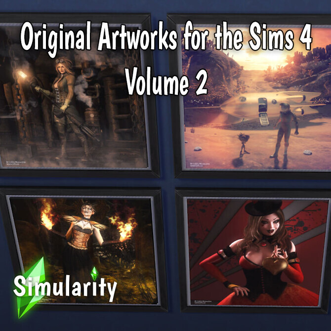 Sims 4 Original Artworks Volume 2 by Simularity at Mod The Sims