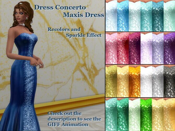 Sparkly Maxis Concerto Dress by Serpentia