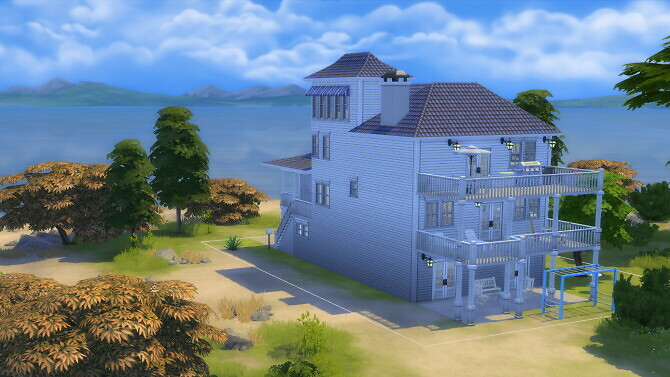 Sims 4 White Coastal Home by nifflr at Mod The Sims