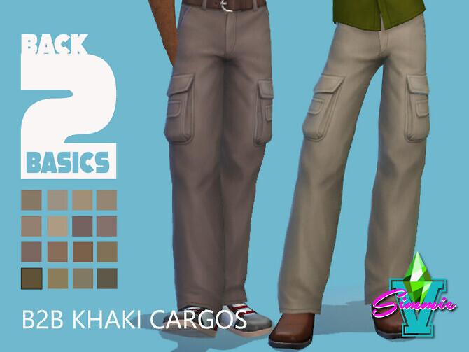 Sims 4 B2B Khaki Cargos by SimmieV at TSR