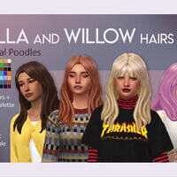 Willow Long Hair With Fluffy Bangs By Feralpoodles