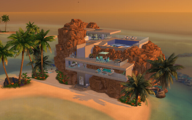 Sims 4 The Rock house by alexiasi at Mod The Sims