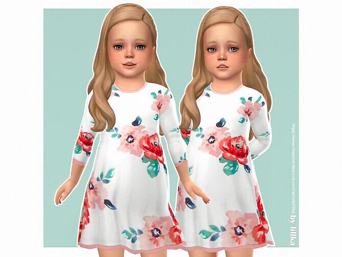 Sims 4 Bianca Dress by lillka at TSR