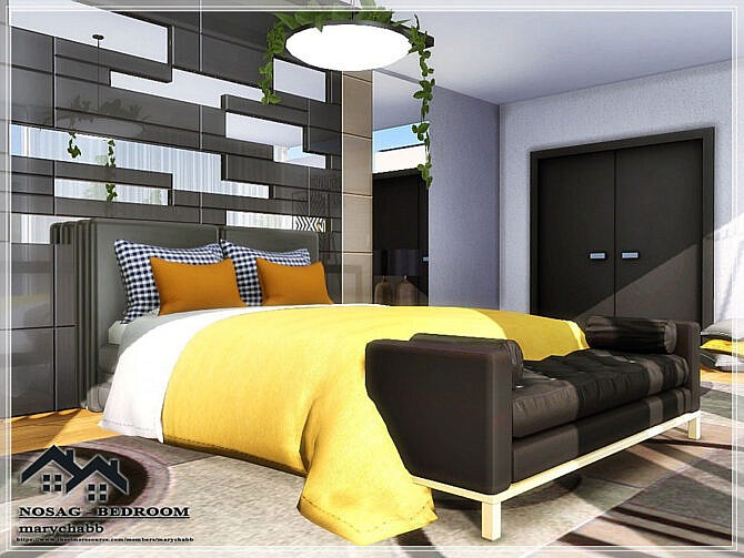Sims 4 NOSAG Bedroom by marychabb at TSR