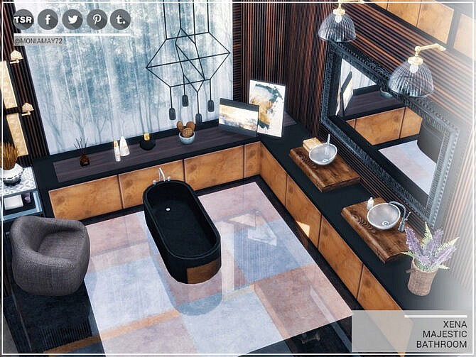 Sims 4 XENA Majestic Bathroom by Moniamay72 at TSR