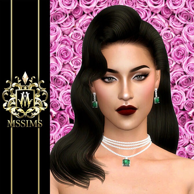 Sims 4 VIOLET NECKLACE & EARRINGS at MSSIMS