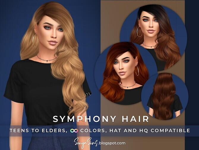 Sims 4 Symphony Hair at Sonya Sims