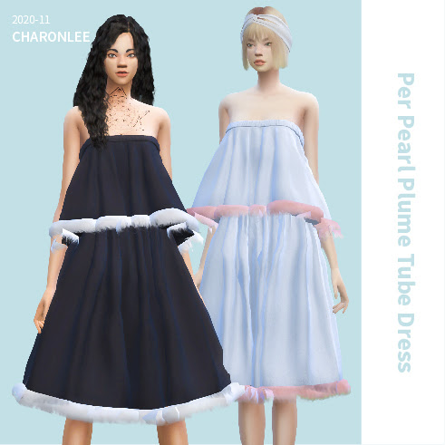 Per Pearl Plume Tube Dress