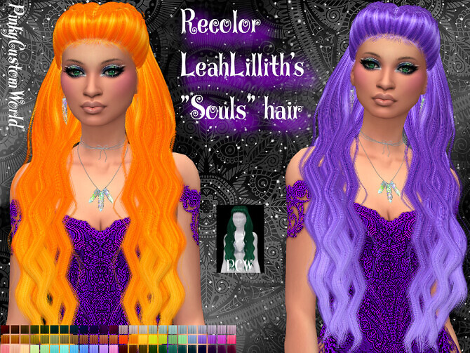 Recolor of LeahLilliths Souls hair by PinkyCustomWorld