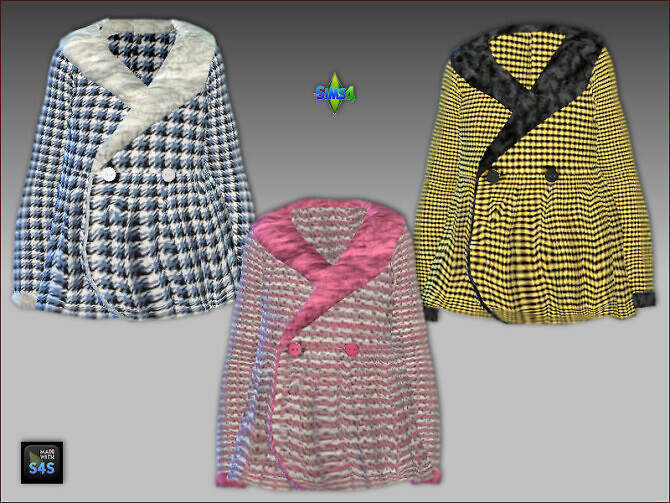 Sims 4 Jacket, hat and turtleneck for girls at Arte Della Vita
