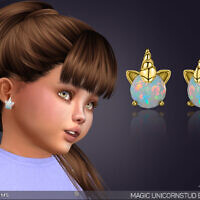 Magic Unicorn Stud Earrings For Toddlers By Feyona