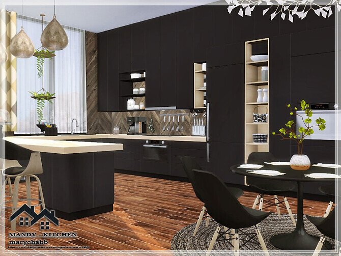 Sims 4 MANDY KITCHEN by marychabb at TSR