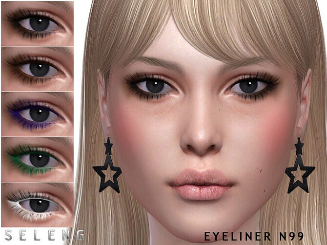 Sims 4 Eyeliner N99 by Seleng at TSR