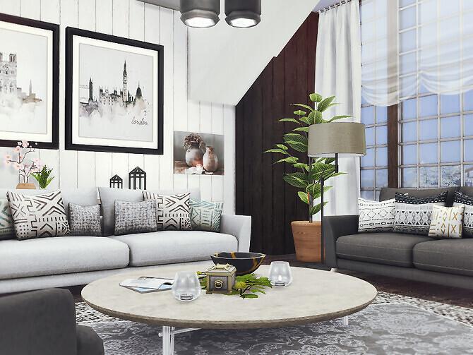 Sims 4 Dani Living Room by Rirann at TSR