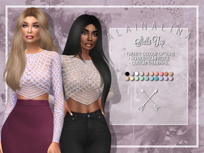 Sims 4 Stella Top at AlainaLina