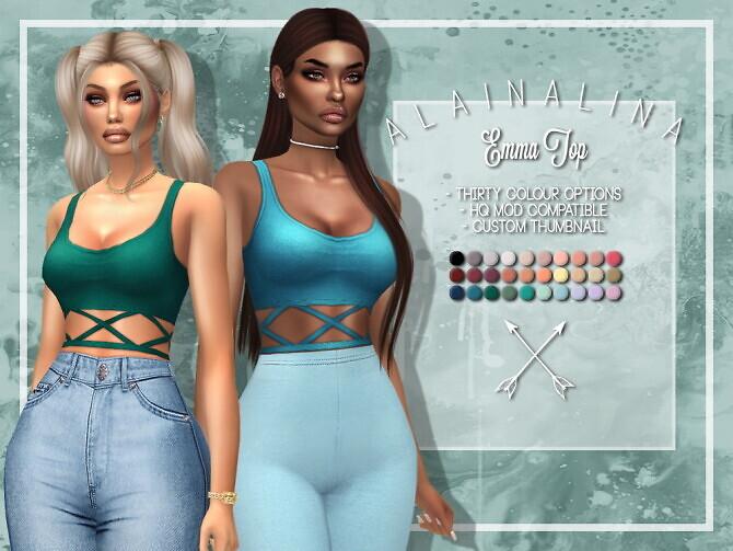 Sims 4 Emma Top at AlainaLina