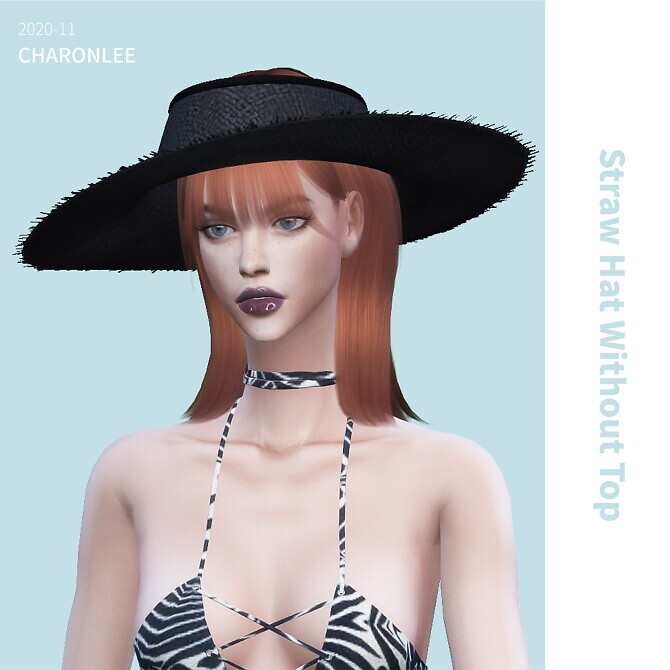 Sims 4 Straw Hat Without Top at Charonlee