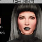 2 Color Sims 4 Lipstick V1 by Reevaly