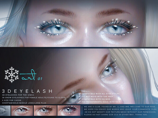 3d Eyelashes F Snow By S-club
