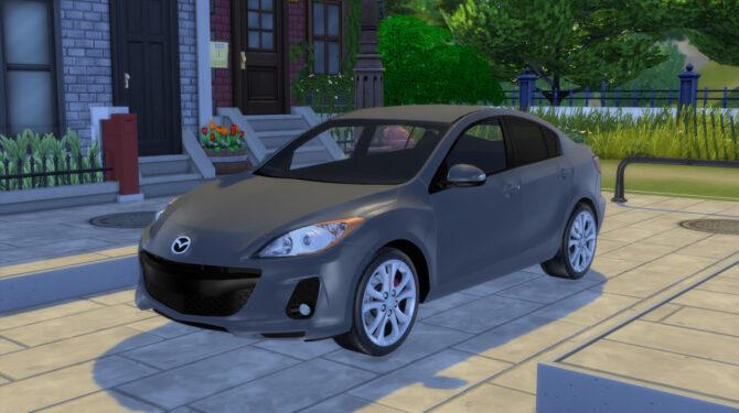Sims 4 2012 Mazda 3 Grand Touring Sedan at Modern Crafter CC