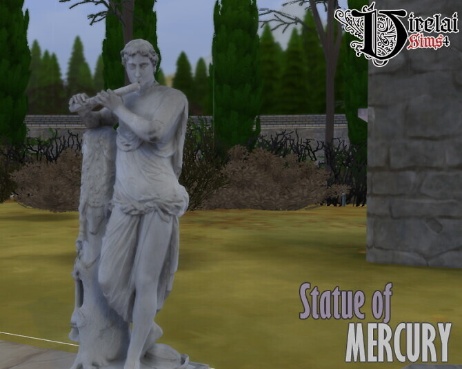 Sims 4 Statue of Mercury at Virelai