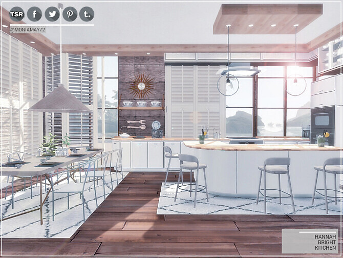 Sims 4 Hannah Bright Kitchen by Moniamay72 at TSR