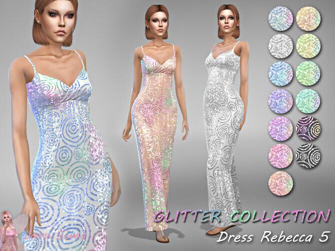 Sims 4 Dress Rebecca 5 by Jaru Sims at TSR