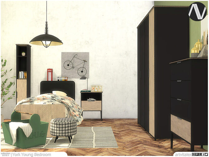 Sims 4 York Young Bedroom by ArtVitalex at TSR