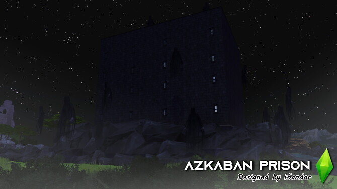 Sims 4 Azkaban prison Harry Potter builds by iSandor at Mod The Sims