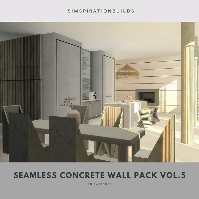 Seamless concrete wall pack vol5