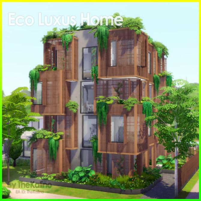 Sims 4 Eco Luxus Home at Kalino