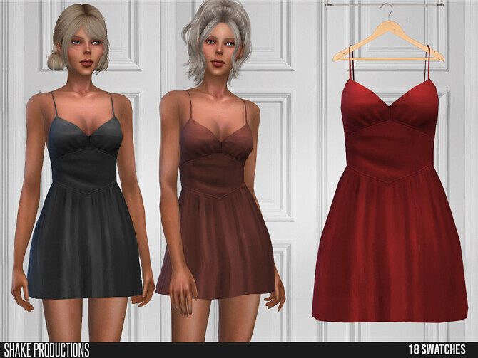 Sims 4 596 Dress by ShakeProductions at TSR