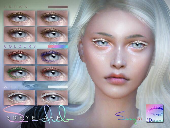 Sims 4 3D EYELASHES I F V2 colors by S Club at TSR