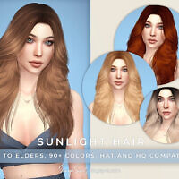 Sunlight Hair Females By Sonyasims Cc