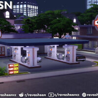 Highway Petrol Gas Station Set By Ravasheen